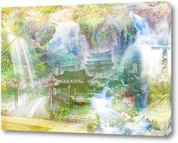 Постер Восточные водопады