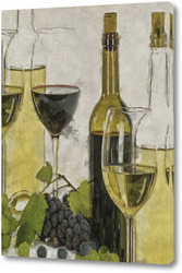 Картина Вино и виноград