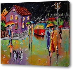 Картина Ночная прогулка