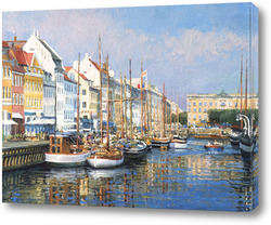 Картина Новая Гавань в Копенгагене