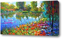Картина Летний пруд