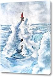 Постер Маяк и море