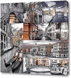 Постер Монохромная Венеция