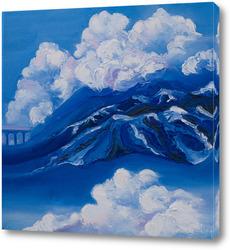 Постер Горы в облаках