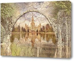 Постер  Арочный мост в Германии