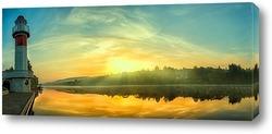 Постер Рассвет на Москве реке