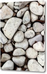 Постер Белые речные камни