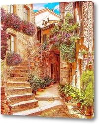 Постер Испанский дворик