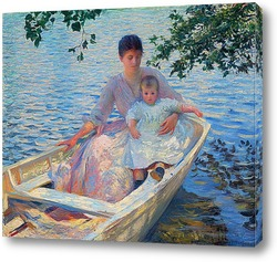 Картина Мать и ребенок в лодке