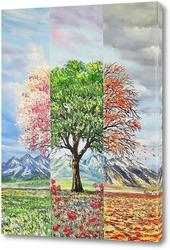 Постер Три настроения в природе