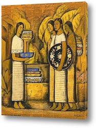 Картина Продавец посуды