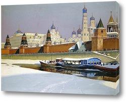 Вид на Кремль со стороны набережной Москвы-реки