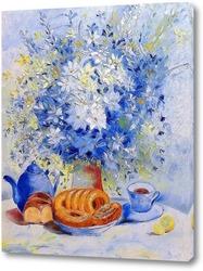 Букет цветов в чайнике, милый букет