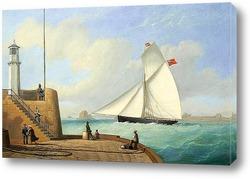 Постер Старый маяк,вход в гавань