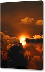 Постер закат перед бурей