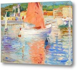 Картина Французские прибрежные сцены, возможно Кап Ферра