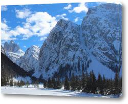 Постер горные вершины