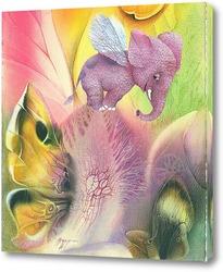 Картина Слон на вершине