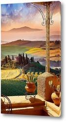 Постер Равнинный пейзаж