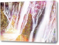 Постер Горные водопады