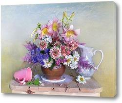 Постер Букет красивых садовых цветов