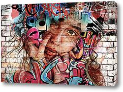 Постер Портрет, граффити