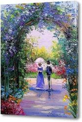 Постер Прогулка в цветущем саду
