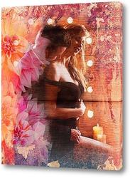 Постер Объятия и цветы