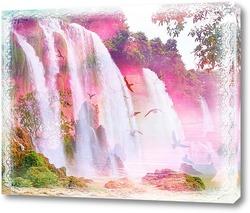 Постер Сказочный фиолетовый водопад