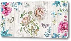 Постер Ретро цветы