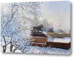 Картина Зимний причал