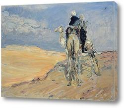 Постер Песчаная буря в пустыне Ливии