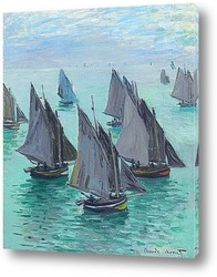 Картина Рыбацкие лодки.Спокойное море