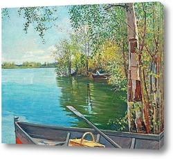 Постер Рыбалка на озере