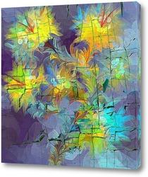 Постер абстрактные цветы