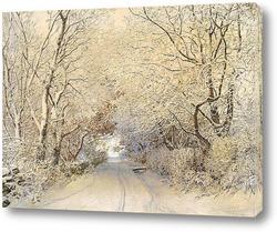 Картина Дорога,зимний пейзаж
