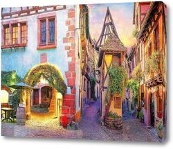 Постер Красочная улочка