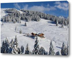 Постер Зимние горы