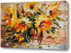 Постер Желтые цветы