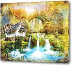 Постер Освежающий водопад