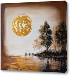 Постер Тишина в золотом