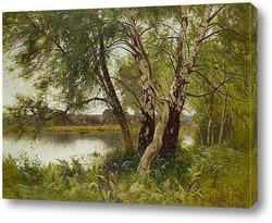 Постер Спокойный пейзаж реки