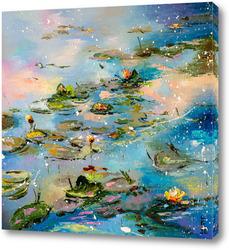 Постер Вечерний пруд