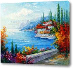 Картина Городок у моря