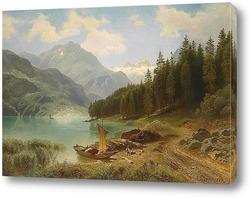 Постер Отдых на озере 1874