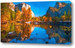 Постер Осеннее озеро
