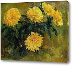 Постер Желтые хризантемы
