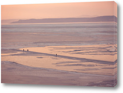 Постер Замерзшее море в Амурском заливе. Владивосток