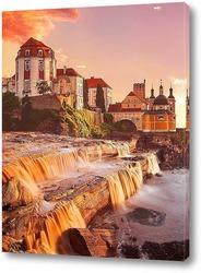 Постер Замок в лучах заката