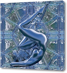 Постер Девушка, боди арт